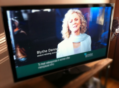 Blythe Danner in TV commercial