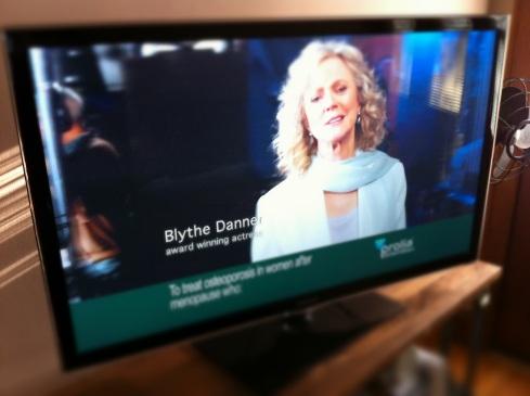 Blythe Danner in TV commercial