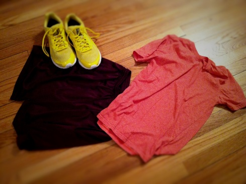 colorblocked workout wear
