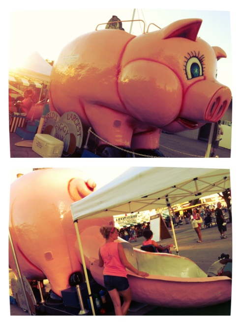 World's Largest Piggy Bank at Wisconsin State Fair