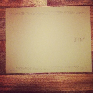 DITNY - CD Cover Step 1
