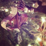 recycled newspaper christmas tree ornament
