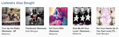 listeners also bought, itunes recommendation