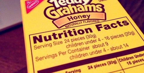 teddy grahams nutrition label