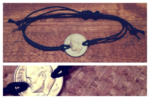 DIY Dime Bracelet