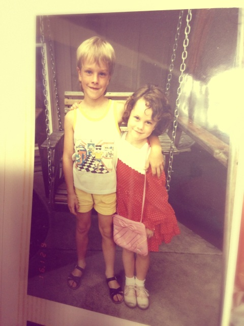 Throwback Thursday, tank top and yellow shorts