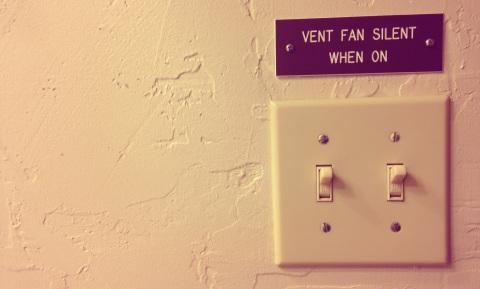 silent vent fan placard