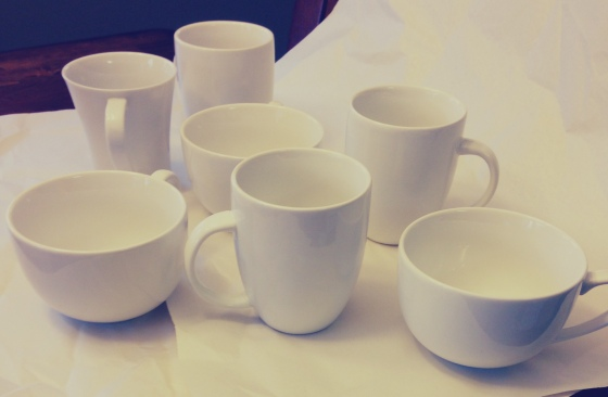 diy sharpie mugs, step 1