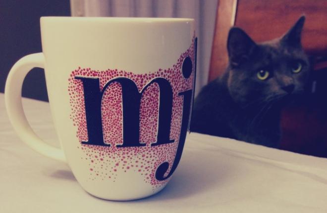 diy sharpie mugs, step 4