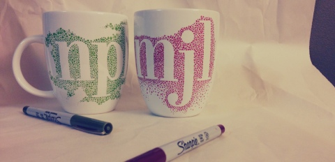 diy sharpie mugs, step 5