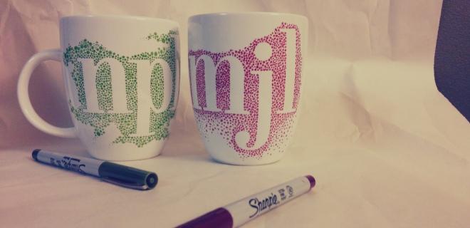 diy sharpie mugs, step 5