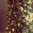 DIY burlap leaves / ornaments, Christmas tree, Pinterest