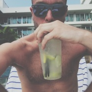 Sipping caipirinhas by the pool!