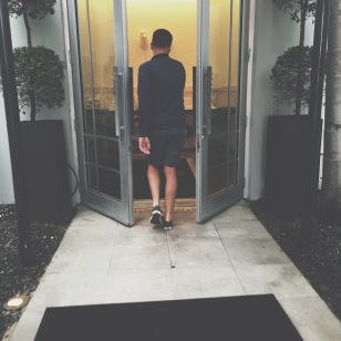 Making an entry at the Hotel Victor, South Beach Miami
