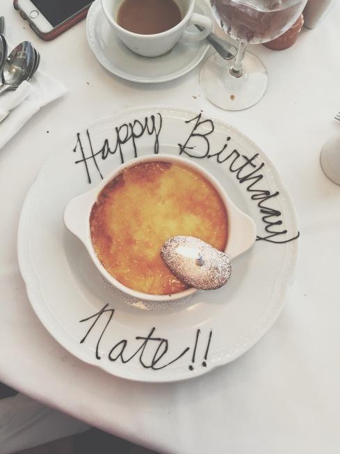 Crème brûlée for my birthday!