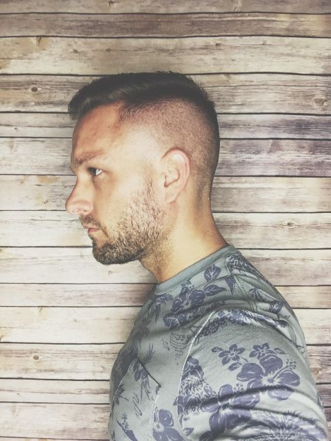 Loving the summer fade. Men's short summer haircut.