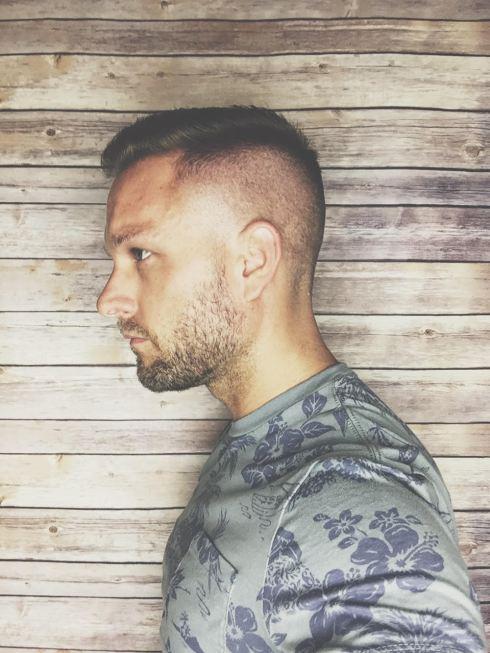 Loving the summer fade. Men's short summer haircut.