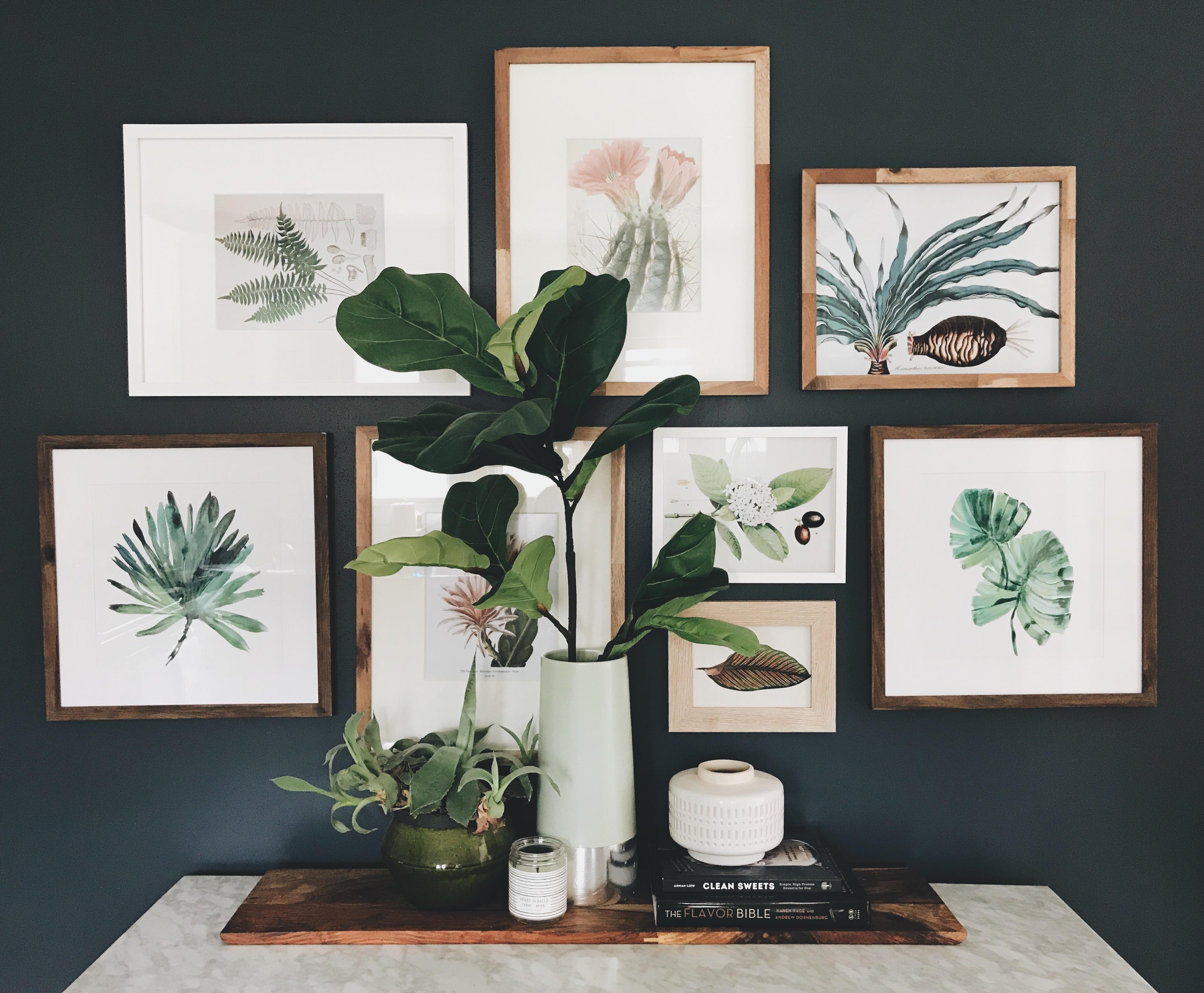 (DIY), VISUALTagged Art, Botanicals, Cactus, DIY, Ferns, Fiddle Leaf Fig, Gallery  Wall, Home, Home Decor, Leaf, Leaves, Photography, ...