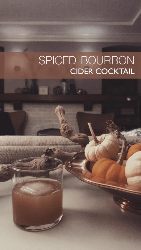 Spiced Bourbon Cider Cocktail