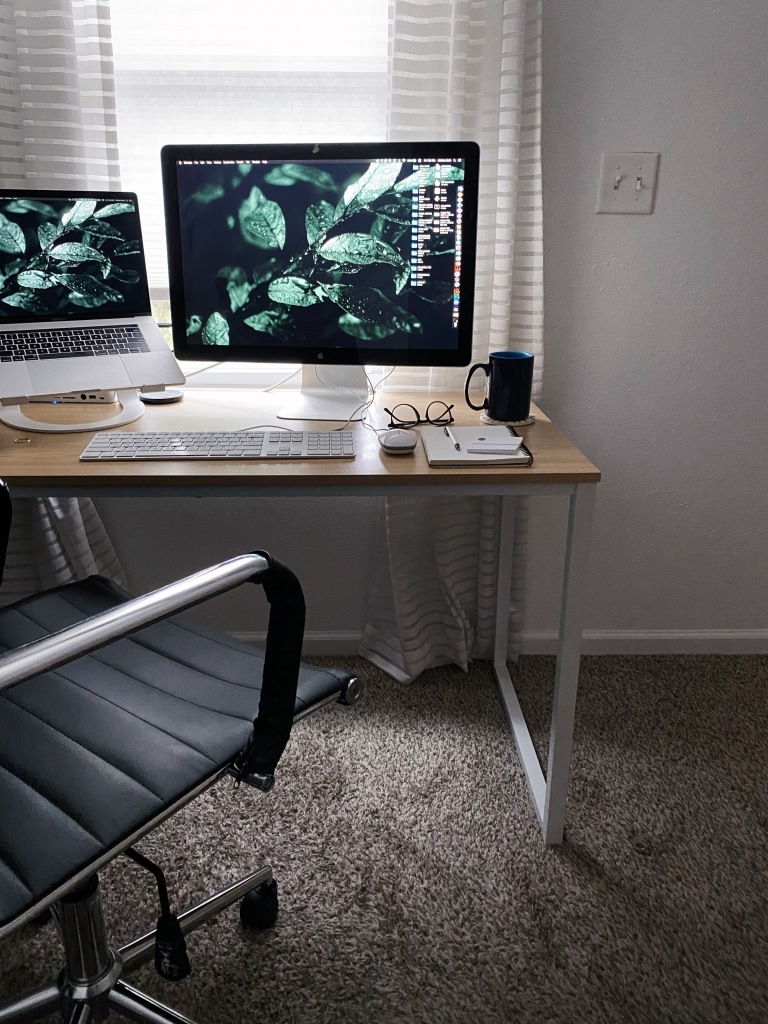 Setting up your home office: Desks and shelving.