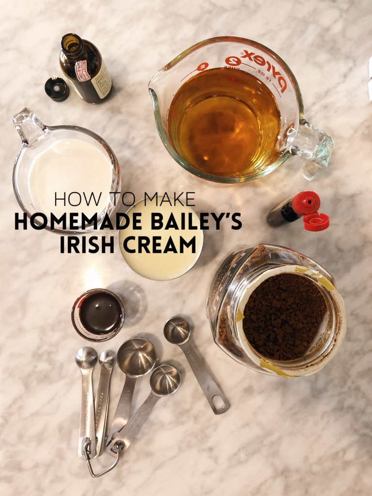 Recipe: How to make homemade Bailey's Irish Cream. A quick and easy recipe that you can make for yourself, or give away as gifts to friends and neighbors.