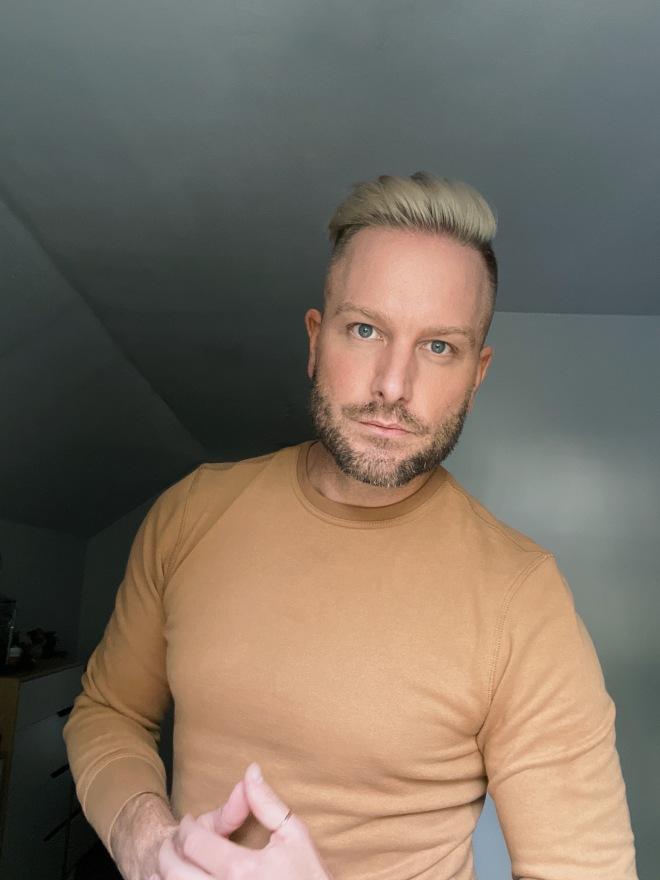 Men's Platinum Blond Hair Color